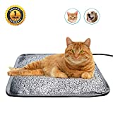 RC SLL Cat Heating Pads Electric Heating Pad Waterproof Adjustable Warming Mat with Chew Resistant Steel Cord (Letter, 17.7''x17.7'')