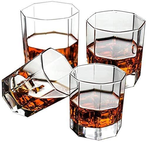 BaiJaC Copas de cóctel, Gafas de Whisky dispensador de Botellas de Licor, Gafas de Whisky soplado a Mano, Gafas de Whisky Antiguas, Gafas escocés Premium Whiskey Juego de Regalo
