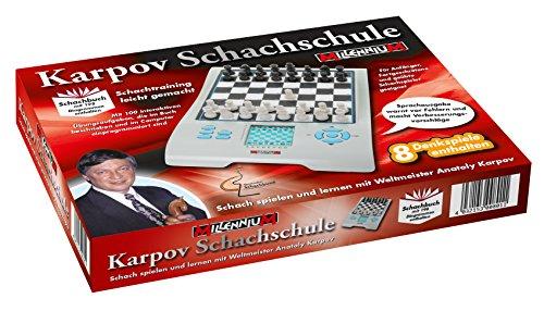 Sprechender Schach-Computer (Schachschule mit Karpov: Schach-Computer und Lehrbuch) - Empfohlen vom Deutschen Schachbund