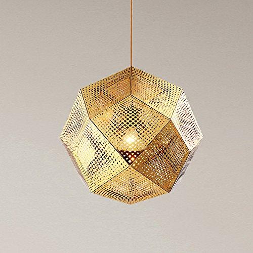 Ganeep Scandinavische box, geometrische creatieve hangende lichten ijzer in restaurant kroonluchter moderne hanglamp eenvoudige café trappen kroonluchter slaapkamer woonkamer decoratie gloeilamp LED