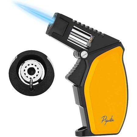 【高い品質】PIPITA 葉巻 ライター 大きなトーチ ライター ガス 注入式 ジェットライター 防風 充填式 直噴ターボライター ろうそくアウトドアトーチ ライター キャンプ 火起こし(ガスなし)