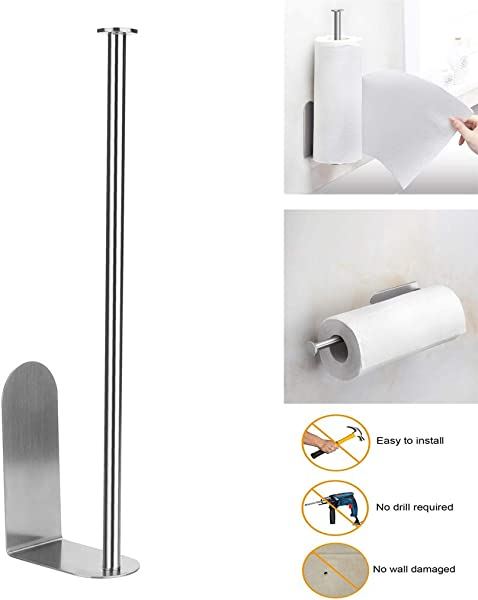 Beyonds Paper Towel Holder Stainless Steel Nail Free And Seamless Waterproof Wall Mounted Paper Towel Holder Toilet Bathroom Kitchen Paper Towel Holder Bathroom Towel Holder