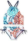 Kanu Surf Girls' Little Beach Sport Halter Tankini 2-Piece Swimsuit, Daisy Red/White/Blue, 5