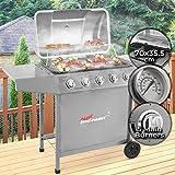 Broil-master Barbecue a gas BBQ Grill carrello in acciaio inox di bruciatore...