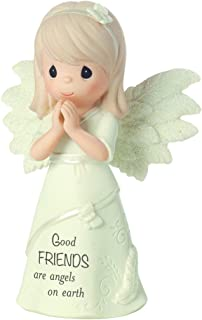 Precious Moments, Good Friends Are Angels On Earth, Bisque Porcelain Figurine, 161063