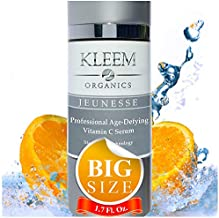 Vitamin C Serum with Hyaluronic Acid for Face and Eye DOUBLE SIZED (1.7 oz) – Best Anti Aging Anti Wrinkle Facial Serum with Natural Ingredients - Results in 5 Weeks
