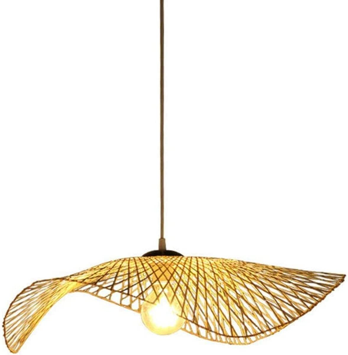 Hanging Lamps Max 80% OFF DIY service Woven Bamboo Vintage Light Natural and