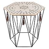 UNIVERS-DECOR Table café déco métal octogonale Kumi Etnik Atmosphera