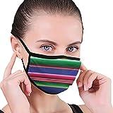 Not Unisex atmungsaktiver Schutzstaub halbes Gesicht Mund Maske Mode Kostüm Maske Anti Pollution für Halloween Weihnachten Geburtstagsfeier Roman Bunte mexikanische Decke Streifen