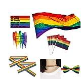 SOPHKO LGBT Bandiera Rainbow Pride Homosexual LGBT Lesbian...
