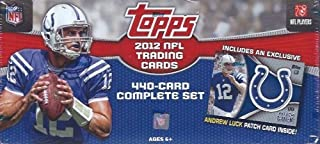 2012 Topps Football Factory Sealed Complete Set 440 Cards with Exclusive Andrew Luck Patch Card