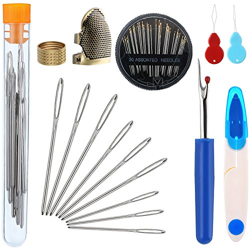 Cheapest Price! Zhanmai 46 Pieces Sewing Tools Set Includes Sewing Thimble Finger Protector Hand Nee...