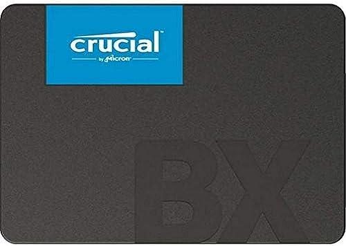 Crucial BX500 240 GB 3D NAND SATA SSD interno de 2,5 polegadas, até 540 MB/s - CT240BX500SSD1 preto/azul