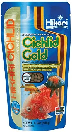 Hikari Sinking Cichlid Gold Fish Food, Medium Pellets