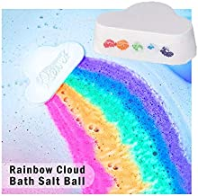 New Fashion Rainbow Cloud Bath Bomb, Float on Water Release Vivid Rainbow Color, Moisturize Dry Skin,Perfect for Bubble Spa Bath. Birthday Mothers Day Gifts idea for Her/Him, Wife, Girlfriend