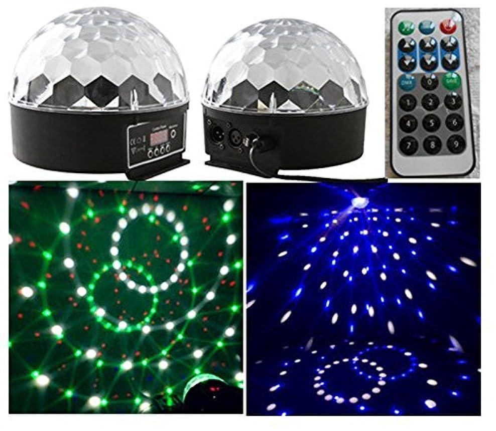 クラッシュ餌どちらかリモコン新しい18Wの水晶玉は6色が効果照明DMX6チャンネルディスコショップパーティーライトパーティーライトDJステージディスコボールをLEDライトを導きました