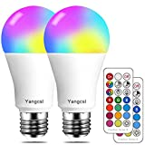 Yangcsl LED Light Bulbs 70W Equivalent, RGB Color Changing Light Bulb, 2 Moods