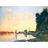 VNKLIN Argenteuil, Late Afternoon by Claude Monet Oil Paintings Reproduction Landscapes Art Hand-Painted Home Decor48 X 36