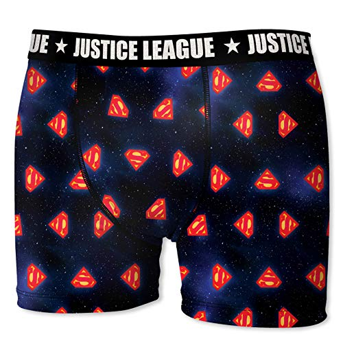Justice League DC Comics Herren Boxershorts Gerechtigkeitsliga - 7 TOP Batman/Superman Design's in S/M/L/XL/XXL (M/5/48, Superman Sign)