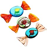 Homoyo - Juego de 3 caramelos de cristal para decoración de caramelos de estilo Murano, estilo vintage