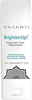 Vasanti Brighten Up! Enzymatic Face Rejuvenator Exfoliating Cleanser enriched with Papaya, Microcrystals and Aloe - 7.05 o...