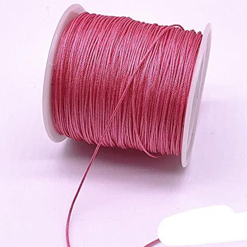 WEDSA 10 metros/lote 1.0 mm hilo de nailon nudo chino macramé cuerda pulsera trenzado DIY borlas abalorios hilo 11