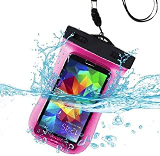 Waterproof Sports Armband Case Bag Pouch for HTC One M9, Desire 555, 650, 512, 530, 10, 626, 510, One M8, 601, One/ M7, One SV, EVO 4G LTE, One X, U11 Life, 520, 526, 626S, 612 (Hot Pink)
