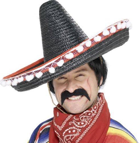 Smiffys - Mexikaner klassischer selbstklebend Schnäuzer,Schwarz