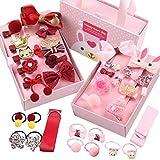 JZK 36 x Baby Haarspangen Haarspangen Kinder Haarspangen mit Geschenkbox für Babyparty Party Geburtstagsgeschenk Kleinkinder Kleine (rosa und weinrot)