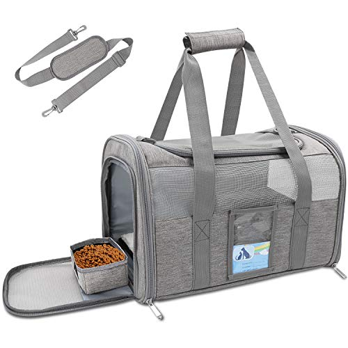 Refrze Pet Carrier Airline Approved, Cat Carriers for Medium Cats Small Cats, Soft Dog Carriers for Small Dogs Medium Dogs, TSA Approved Pet Carrier...
