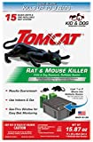 Tomcat Rat & Mouse Killer Refillable Bait Station - Child & Dog Resistant (1 Station, with 15 Baits)...