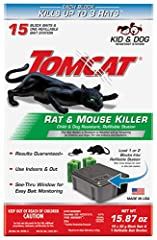 Effectively kills rats and mice while protecting kids and dogs Each bait block kills up to 3 rats (based on no-choice laboratory testing), efficiently protecting your home Weather and tamper proof from any child or dog in your home; usable indoors an...