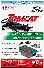 Tomcat Rat & Mouse Killer Refillable Bait Station - Child & Dog Resistant (1 Station, with 15 Baits)