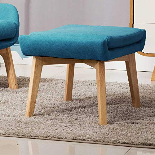Irene House Contemporary Velvet Fabric Height Back Accent Chair,Living Room,Bedroom Arm Chair (Blue)