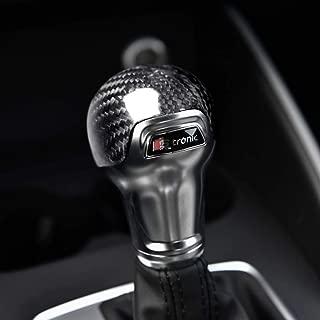 XIAOL HOME Marco de cubierta de ajuste de perilla de cambio de engranaje de fibra de carbono, modificación de accesorios interiores de coche de balonmano Pegatinas decorativas for Audi A3 / S3 (2012-2