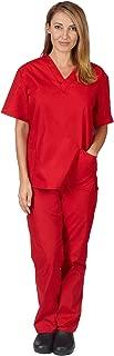 Women's Scrub Set Medical Scrub Tops and Pants