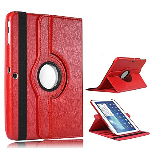 SAMSUNG GALAXY TAB/TAB S S2 CON STAND GIREVOLE A 360°, IN PELLE SINTETICA, DAL SS-TECH, Ecopelle, rosso, SAMSUNG TAB S2 8.0'