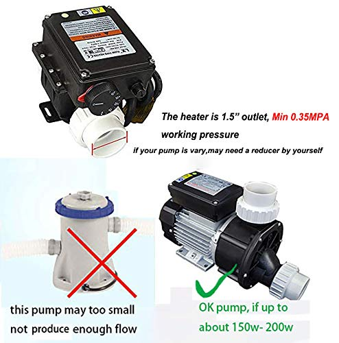 UCEDER Pool spa Part hot tub LX H20-Rs1 Thermostat 110V 2kw with Adjustable Temperature Thermostat for Some hot tubs,Underground Small Pool