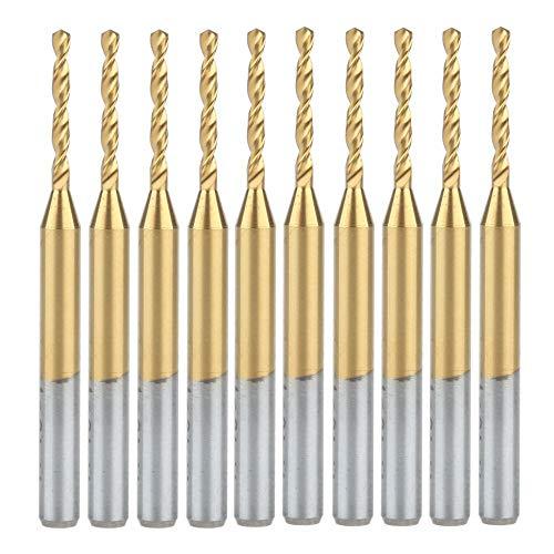 NIANZAI Hongfubang 10pcs 3,175 x 1,4 mm Nitruro de titanio c