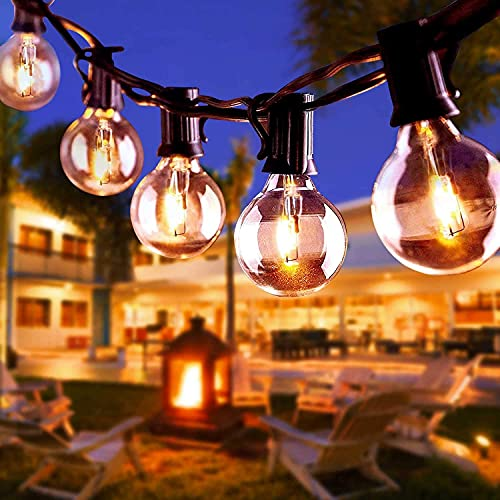 Outdoor String Lights, VOKSUN 11M/36ft G40 30 Bulbs Garden Patio Outside String Light, Waterproof Indoor/Outdoor Ball Fairy Light Decoration for Party, Festival, Warm White (30 Bulbs + 5 Spare Bulbs)
