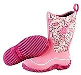 Muck Boot Hale Multi-Season Kids' Rubber Boot,Pink Hearts,6 M US Big Kid
