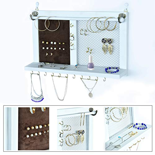 Kullavik Wall Mounted Jewelry Organizer Armoires Home Decor Display Shlef Storage for...