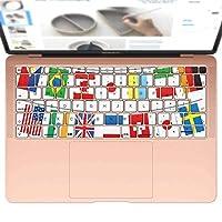 igsticker MacBook Air 13inch 2018 専用 キーボード用スキンシール キートップ ステッカー A1932 Apple マックブック エア ノートパソコン アクセサリー 保護 009656 国旗 外国 パーティー