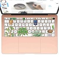 igsticker MacBook Air 13inch 2018 専用 キーボード用スキンシール キートップ ステッカー A1932 Apple マックブック エア ノートパソコン アクセサリー 保護 015924 観葉植物 植木鉢