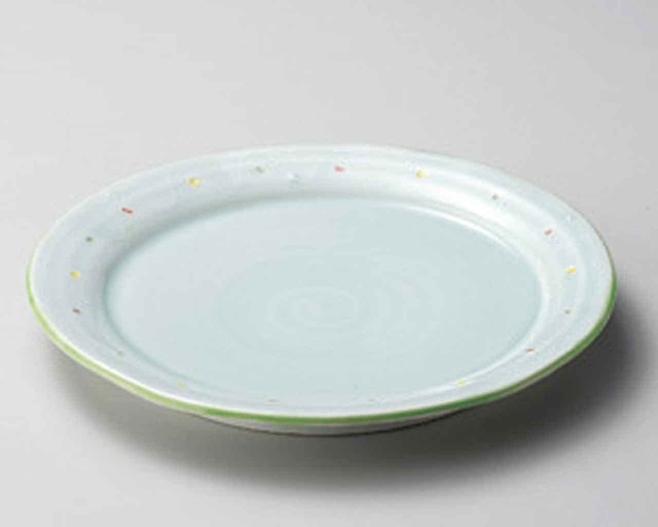 Water Blue 10.8inch Set of Our shop OFFers the best service 5 Made PLATES i Green porcelain SUSHI Colorado Springs Mall