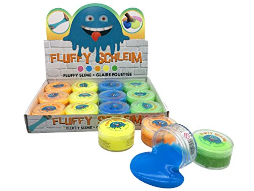JustRean Toys 1 Dose duftender Fluffy Slime | fluffiger Flauschiger Schleim in der Dose | Glibber Schlamm Spielzeug Kinder-Geburtstag Mitgebsel Tombola