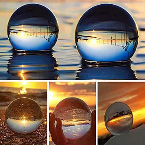 CROSYO 1 unid Bola de Cristal, Cristal óptico esferas Reflectantes de Cristal k9 Esfera cristalina de la Bola de la Bola de la Bola, despejado Contacto malabareos (tamaño : 60mm)