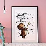 ilka parey wandtattoo-welt A3 Print Poster mit Baby Bär &