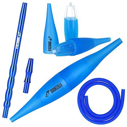 Smokezilla COOLIN Ice Bazooka + Alumundstück + Silikonschlauch Set | Der Shisha-Rauch Wird durch das Icemundstück gekühlt! | Kompatibel mit Allen Shisha-Schläuchen (Blau)