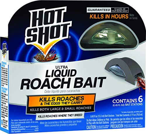 powerful Hot Shot HG-95789 Cockroach Killer, 6 Pieces, Brown / A.